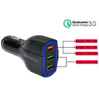 3 USB QC3.0 Быстрая зарядка адаптер сотовый телефон Автомобильное зарядное устройство смарт-телефон зарядное устройство для iPhone Android Samsung смартфоны с розничным пакетом