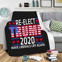 Trump 2020 Lettres Couvertures doubles couches Épaissir couverture chaude bébé emmailloter Couverture Enfilez Canapé-lit Châle Adultes Enfants Cape Cape A112702