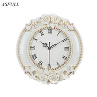 creative European decorative wall clock quiet clock living r...