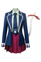 Fairy Tail Final Season Carla Human Form Dress Costume Cosplay Uniforme scolastica