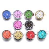 10pcs / lot verre montre boutons pression Dix couleurs peuvent se déplacer Fit 18mm / 20mm Diy Snap Bracelet boutons remplaçables bijoux MX190719