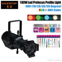 TIPTOP TP-002 180W RGBW 4IN1 بقيادة الملف الضوء 100V-240V DMX 512 9 قنوات العرض LCD دليل التكبير بقيادة RGBW COB ضوء TP-002