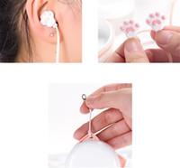 귀여운 고양이 발톱 이어폰 3.5mm 스테레오 이어 이어폰 아이폰을위한 마이크와 함께 삼성 Xiaomi 여자 아이 자식 학생 선물