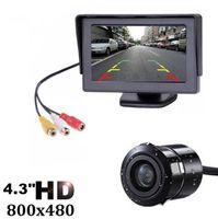 4,3-дюймовый TFT ЖК-монитор автомобиля дисплей беспроводных камер обратная камера автостоянка для мониторов заднего вида мониторов
