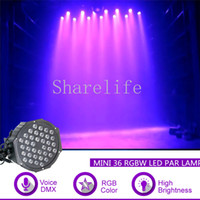 Shareware 미니 36 Pc 레드 그린 블루 RGB LED 파 램프 주도 DMX 사운드 클럽 DJ 라이트 홈 공연 파티 파티 무대 조명 Par36