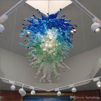 Elegante Tiffany lámpara de cristal soplado mano de cristal Chihuly Lámparas hechas a mano de cristal soplado Chihuly arte de la lámpara