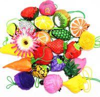 Bolsa de compras ecológica de frutas Bolsa de supermercado Bolsa de almacenaje de fresas reutilizable Bolsos de compras plegables Bolsa de viaje LJJK1677