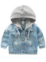 12cb48572065 Großhandel Baby Mädchen Rose Blume Stickerei Jeansjacke Vintage ...