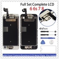 Set LCD Full Ecran per iPhone 6 6 Plus 6s 6s COMPLETO PIÙ rimontaggio della visualizzazione 3D Digitizer + Front Camera + Auricolare