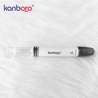 Vaporizzatore originale Mini cera / olio kanboro Mini 650mah incorporato Penna tampone da vaporizzatore con tubo di vetro Vaporizzatore per cera con filtro
