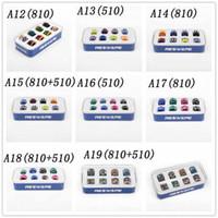 17 стили набор эпоксидной смолы 510/810 подсказки потека комплект капельницы кончик кожи сетки радуги мундштук для электронной сигареты сигарета мод Vape распылитель высокое качество