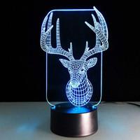 Noel Benzersiz Yaratıcı Küçük Işıklar Ocakta 3D Dokunmatik Lambalar Renkli LED Görüş Gece Lambası Çocuk Hediye Akrilik Aydınlatma