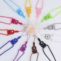 Caixas de telefone celular Charms 2 em 1 cordão destacável girando corda móvel pendurado no pescoço anel-tipo multi-propósito duplo para iphone
