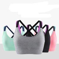 2020 women's underwear bra cross beauty back breathable steel ring-free underwear new shockproof yoga running fitness sports bra