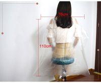 78x110 см Одноразовые накидки для стрижки волос Водонепрозрачные прозрачные промывки PADS Shampoo Cape Package Чистые чехлы 200 шт. / Пакет