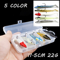 5pcs 1box 11. 5cm 22g Lead Head Lure PVC Soft Fishing Bait 5 ...