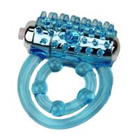 Elasticità del pene dell'anello del pene di vibrazione dell'anello elastico di ritardo del silicone di erezione del rinforzatore Giocattoli del sesso per gli uomini / coppia J2206