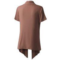 37ea7f523f7 MUQGEW Womens Blouse Soft Drape Cardigan Tops Short Sleeve Smock Shirt Sun  Wear Blouse Summer Tops Casual Clothes blusa mujer