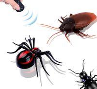 التحكم عن بعد واقعية وهمية العنكبوت RC مزحة اللعب الحشرات نكتة مخيف خدعة التحكم بالأشعة تحت الحمراء (النمل / العنكبوت / صرصور)