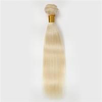 10-30 inç 613 düz saç parça sarışın hint remy saç uzantıları 1 adet bakire rusça brezilyalı perulu sarışın ipek düz saç atkı