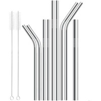 Bend & Straight Stainless Steel Straw 6mm 8mm 12mm Drinking ...