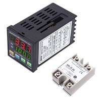 Freeshipping الرقمية برمجة pid تحكم led ترمومتر ssr tc / rtd + 24 فولت-380 فولت 25a SSR-25 دا الحالة الصلبة وحدة التقوية