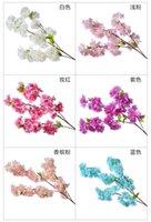 1M lungo artificiale Ciliegio vite Finto Fiore Fiore di ciliegio ramo di Sakura Albero staminali per evento di nozze Albero Deco artificiale decorativo 03
