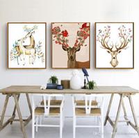 DIY Ölgemälde Tier Dekoriert Bild Kunstgemälde Handgemalte Ölgemälde Deer Sofa Wanddekoration No Frame 16 * 20 Zoll BC BH1495