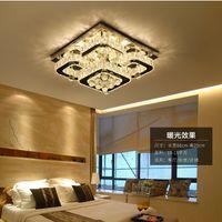 Sleck Mount Потолочный светильник потолочный светильник Современное освещение хромированного света Dimmable LED роскошный K9 кристалл светодиодный потолочный светильник для спальни