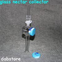 Jogo do coletor do néctar de Hookahs mini com 10mm 14mm Dica de quartzo Bongo de vidro Tubos de palha de vapor