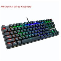 Gaming Keyboard Interruttore meccanico Blu Rosso 87key tastiera statunitense Wired anti-ghosting USB retroilluminato a LED RGB / Mix per Gamer PC Laptop