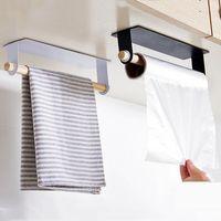 Bath Kitchen Towel Racks High Quality Hanging Towel Rack Rolls Paper Towels Organizer Holder Bathroom Cabinet Cupboard Hanger DBC BH3482