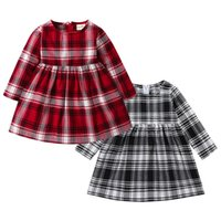 Fashsiualy Baby Girls Winter Dress Kids Girl Clothes Toddler Kid Baby Girl Long Sleeve Stripe Party Princess Dress Clothing