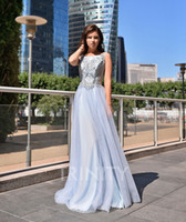 Sunshine Baby Blue Scoop Embroidery Evening Dresses Special ...