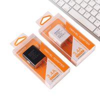 Cargador de pared OLESiT doble USB 2.4A 2.1A del cargador del coche de carga rápida cargador de teléfono móvil para el iPhone de Samsung con la caja al por menor