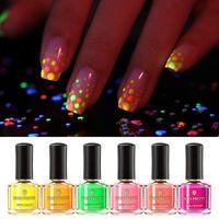 EN YENİ DOĞAN PRETTY Tırnak Pudra Daldırma Drak Tırnak Glitter Floresan Tozu Neon Nail Art Manikür Kuru Krom Pigment Glow in