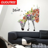 Decorate Home flower Zebra cartoon art wall sticker decorati...