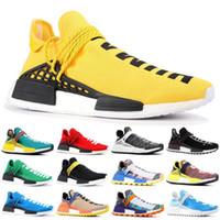 2020 رجل سباق NMD الإنسان الاحذية فاريل وليامز عينة المأخوذة على صعيدي أحذية صفراء الأساسية الأسود رياضة المرأة أحذية رياضية 36-45