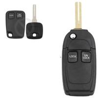 Botão de conversão remoto Key Caso Shell chave do carro habitação para Volvo C70 S40 S60 S70 S80 S90 V40 V70 V90 XC70 XC90 Uncut Lâmina