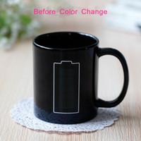 Batteria Magia Mug positivo colori Energy cambia tazza di ceramica di sbiadimento del tè del caffè latte tazze della novità Gifts Preferenze