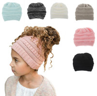 Candy Colors Kids Hat Winter Autumn Knitted Beanies Casual P...
