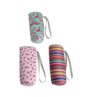 Flamingos Neoprene Water Bottle Cooler Bottle Holder Cover S...