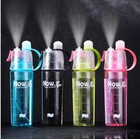 Bouteilles en plastique été frais Sport bouteille d'eau en plastique Bouteilles Portable Vélo Voyage extérieur bicyclette 4 couleurs Livraison gratuite