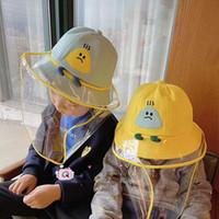 Protectora niños Máscara Pescador casquillo al aire libre de verano del polvo anti del sombrero del cubo facial a prueba de polvo de la cubierta de la cara Sombrero FY4031