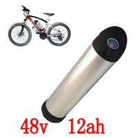 48V 12AH 500W Botella de agua Batería e-Bike Batería 48v 12Ah con 2A Cargador y 15A BMS Batería de litio 48v Envío gratis