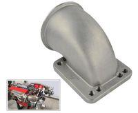 """3.0 """"Vband bride moulée d'adaptateur de coude turbo à 90 degrés pour le turbocompresseur T3 T4"""