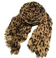 Luxus-Herbst Winter Neue Leopard Quaste Falten Casual Wild Damen Schal Classic Print Muster Baumwolle Rockschal Große Größe 200 cm * 140 cm