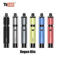 정통 Yocan Regen 스타터 키트 1100mAh 배터리 건조한 허브 증기 왁스 기화기 Vape 펜 Evolve Plus 코일 100 % 원본