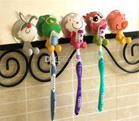 Sıcak Ev Banyo Banyo Diş Fırçası Tutucular Sevimli Karikatür enayi diş fırçası tutucu emme kanca