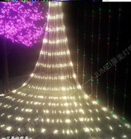 오버레이 2x3M 4x6M 크리스마스 Garlands LED 문자열 크리스마스 그물 조명 요정 크리스마스 파티 정원 웨딩 장식 커튼 조명